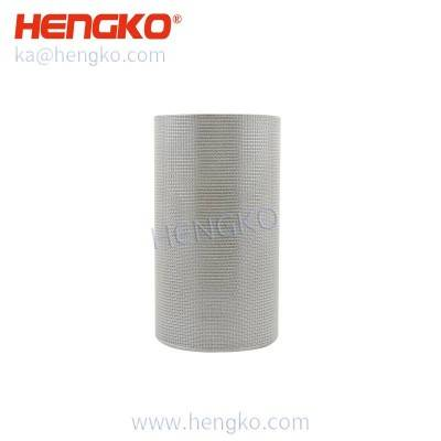 Customized high temperature resistance sintered porous stainless steel 304 316 316L wire mesh metal cylinder filter used for hepa filter