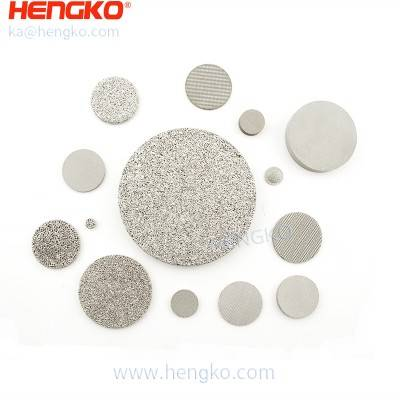 Durable 40-60um pore size sintered porous metal uniform bubble distribution filter used for hydrogen permeation