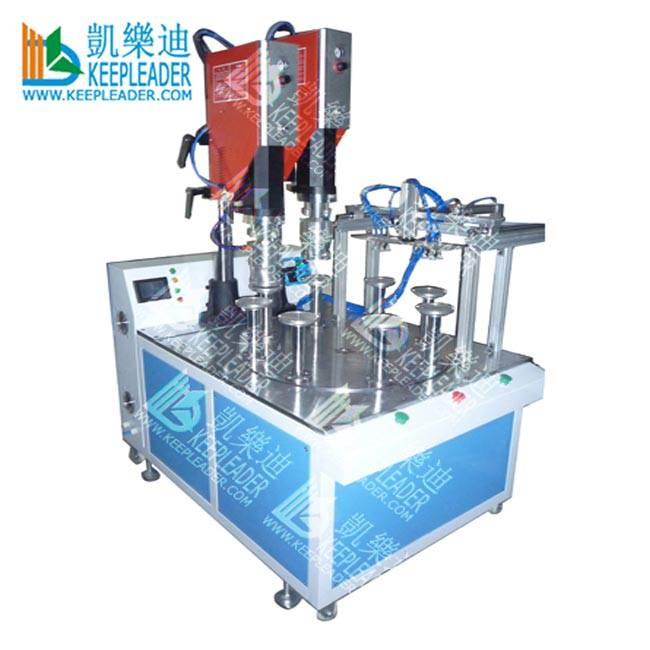 Plastic Cylinder box base Ultrasonic Welding Machine of Double Heads Turntable Ultrasonic Welding Machine Featured Image