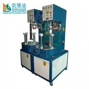 Clear cylinder box bottom welding machine of plastic cylinder box base high frequency welding machine