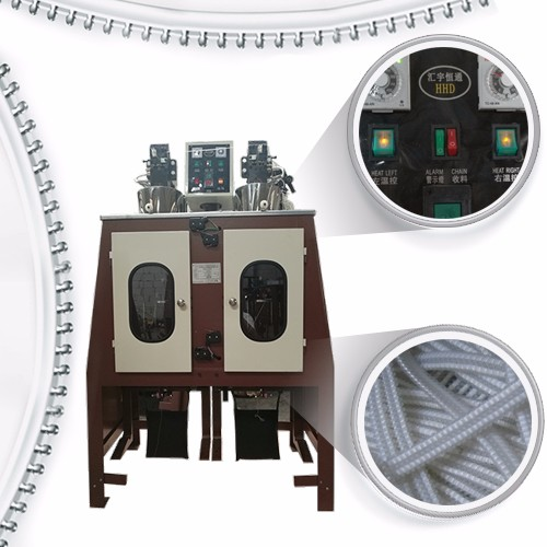High Tanden Speed ​​Nylon Rits Coiling Machine