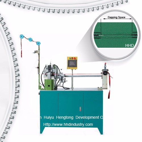 Auto Nylon Zipper Double Side Gapping Machine