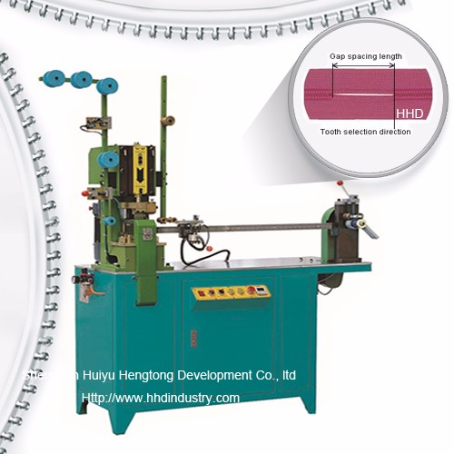 Auto Nylon kremailera Hortzak Gapping Machine