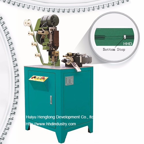 Auto Nylon Zipper Bottom stop Machine
