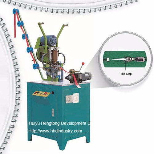 Auto nylon Zipper Top Stop nampidirinay Machine