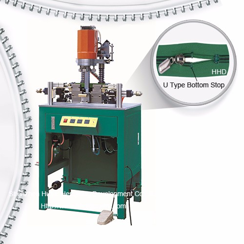 Semi Auto Nylon Zipper U Type Top Stop Machine