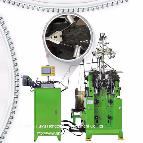 High Speed Double Side Y Type Metal Zipper Teeth Moulding Machine