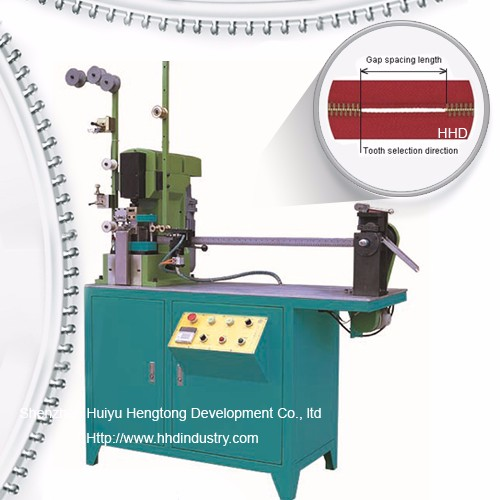 Auto Metal Zipper Gapping Eta Striping Machine