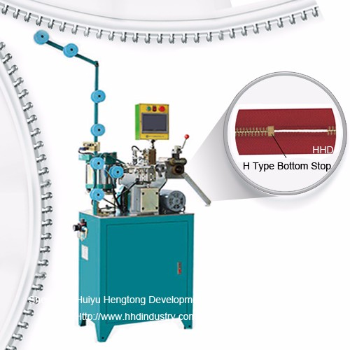 Auto Metal Fermuar H Tipi Bottom Stop Machine