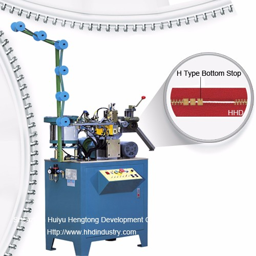 Auto Metal Zipper Multiple H Type Bottom Stop Machine