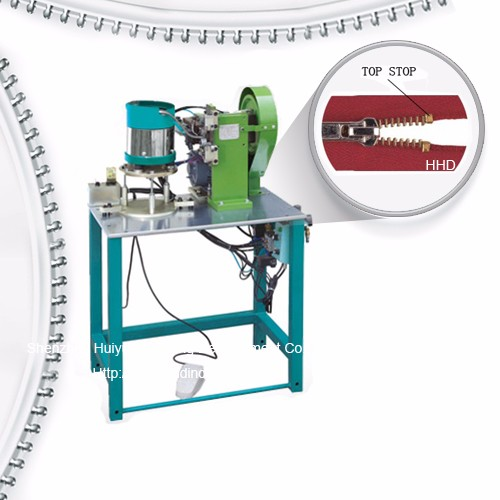 Semi Auto Metal Zipper U Type Particle Single Stop Stop Machine Featured Image