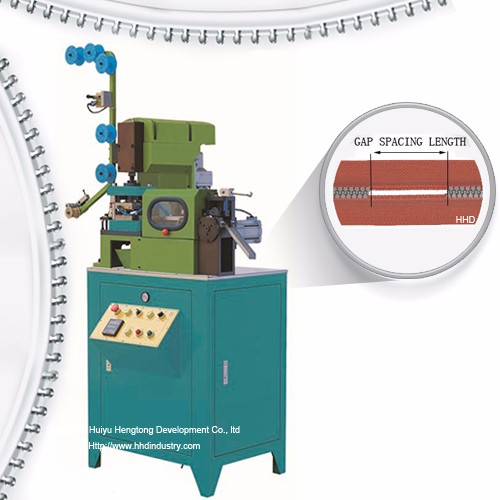 Auto Plastic Zipper Gapping And Striping Machine