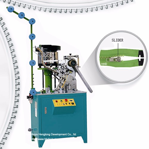 Auto Plastic Zipper Slider Mounting Machine