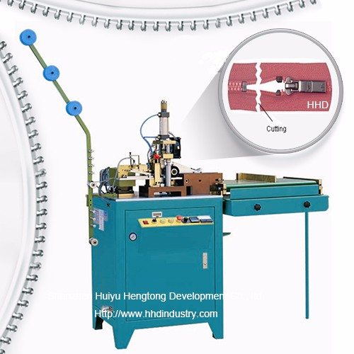 Auto Plastic Zipper Close End Scherpe Machine