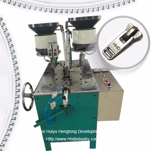 Un-lock siper slider Assembly Machine