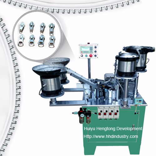 Auto-lock Zipper Slider Vergadering Machine