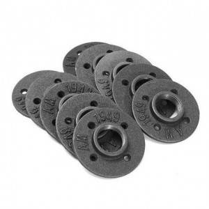 1/2″ 3/4″ Black Malleable Floor Flange pipe fittings