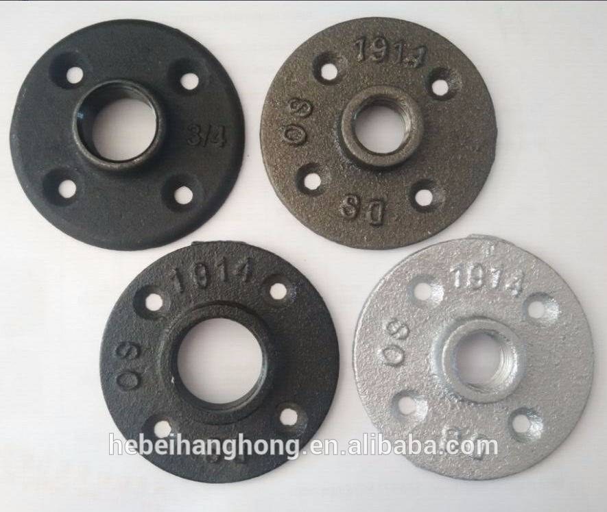 black or galvanized floor flange