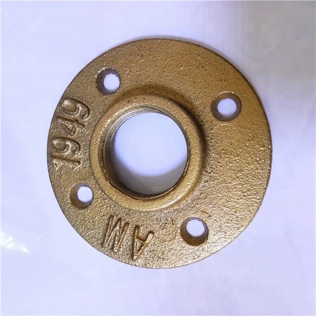 "3/4"" black pipe floor flange for cast iron table base"