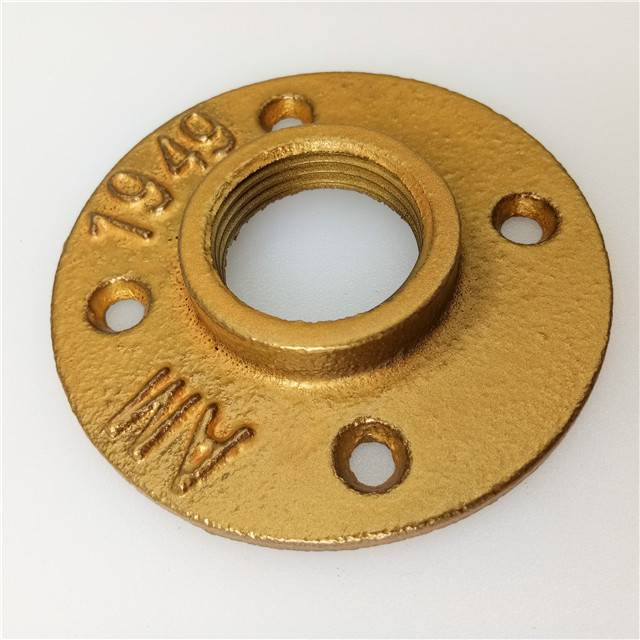 "1/2"" NPT Black Malleable Iron Thread Flange Iron Pipe Fitting Floor Flange 1/2 floor flange"