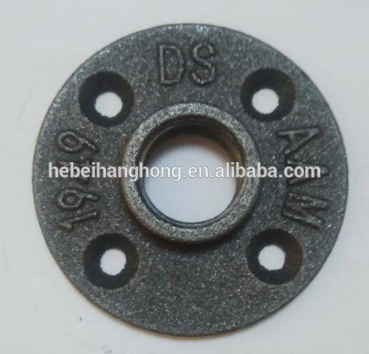 "black malleable iron floor flange with 1/2"" 3/4""and 1""new style"