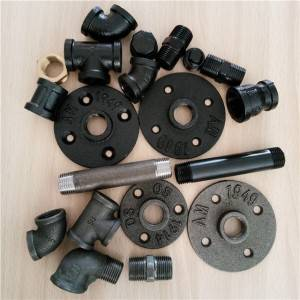 1/2″ 3/4″ malleable cast iron pipe and pipe fittings