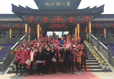 On March 8th woman's day, the company organized female employees to play in Xiangshan film and television city