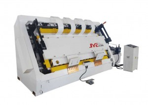 HF slant door frame assembly machine