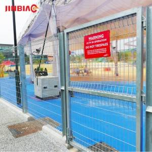 BRC rolled top wire mesh fence for house