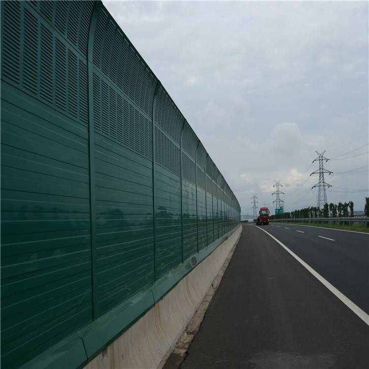 Acoustic barrier with metal shutters on Thai highway