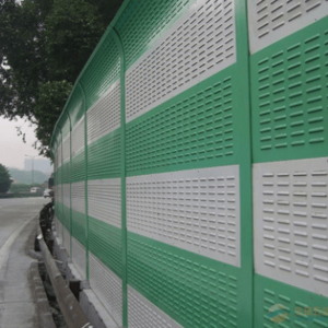 Metal louver noise barrier