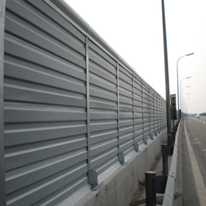 Metal microporous noise barrier