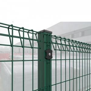 Triangle bending wire mesh fence