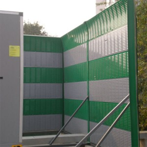 Power plant cooling tower acoustic barrier