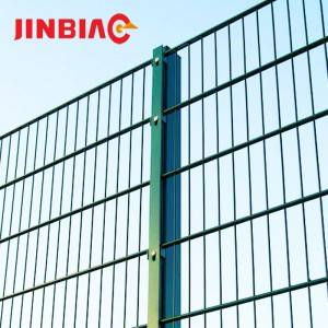 868 galvanized double wire mesh fence panel
