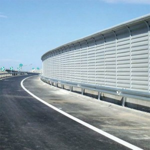 Landscape colorful acoustic barrier