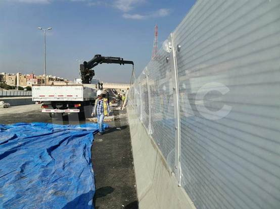 JINBIAO noise and vision barrier install in Kuwait RA/264 project