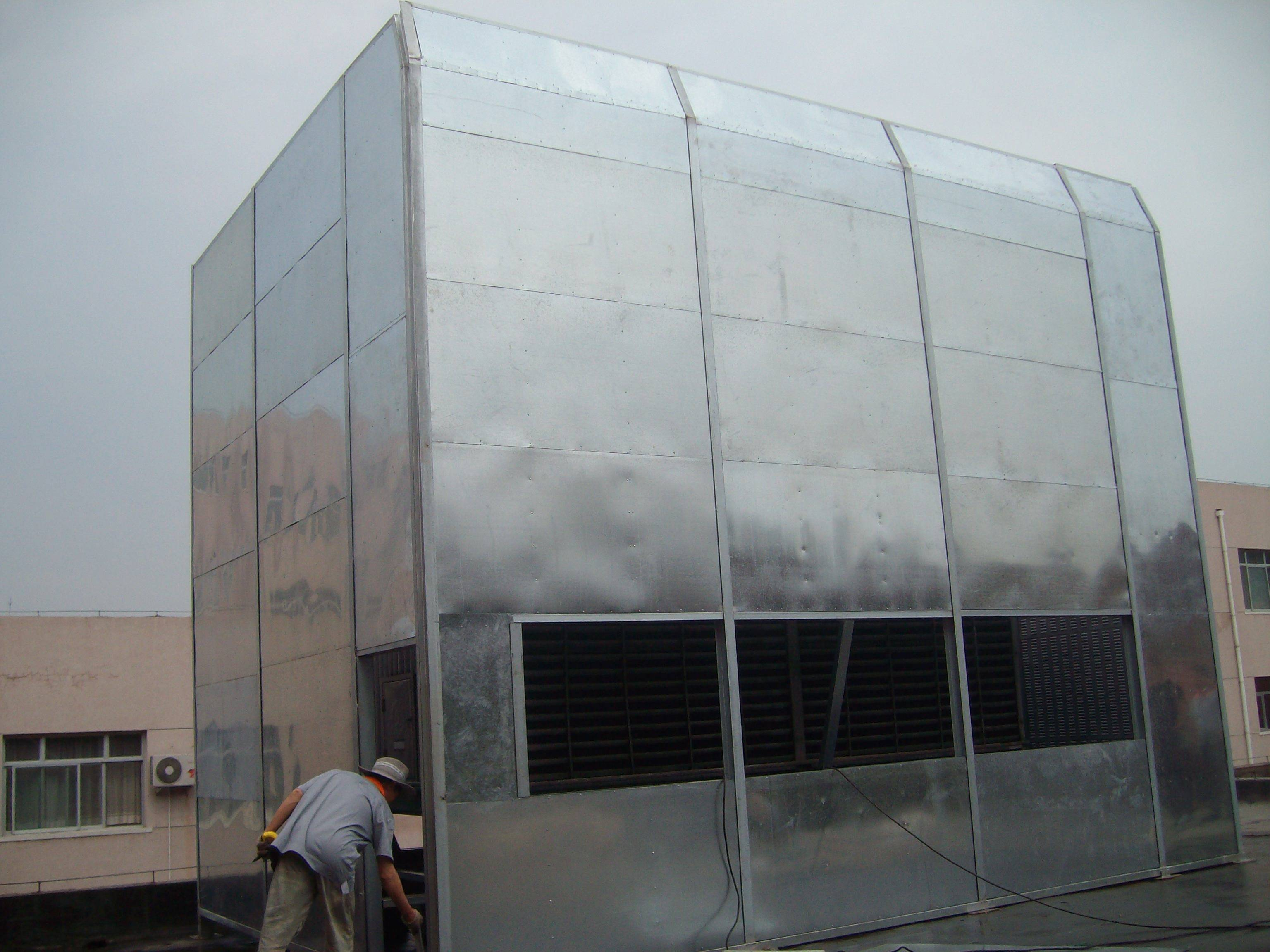 Fully enclosed style factory sound barrier