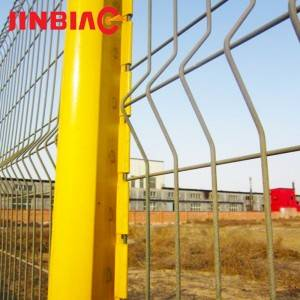 Galvanized triangle bended wire mesh garden fence