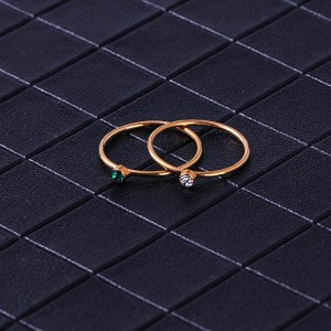 Minimalist ring Jewelry Stainless steel Dainty Stackable Stack Rings Sets For Women