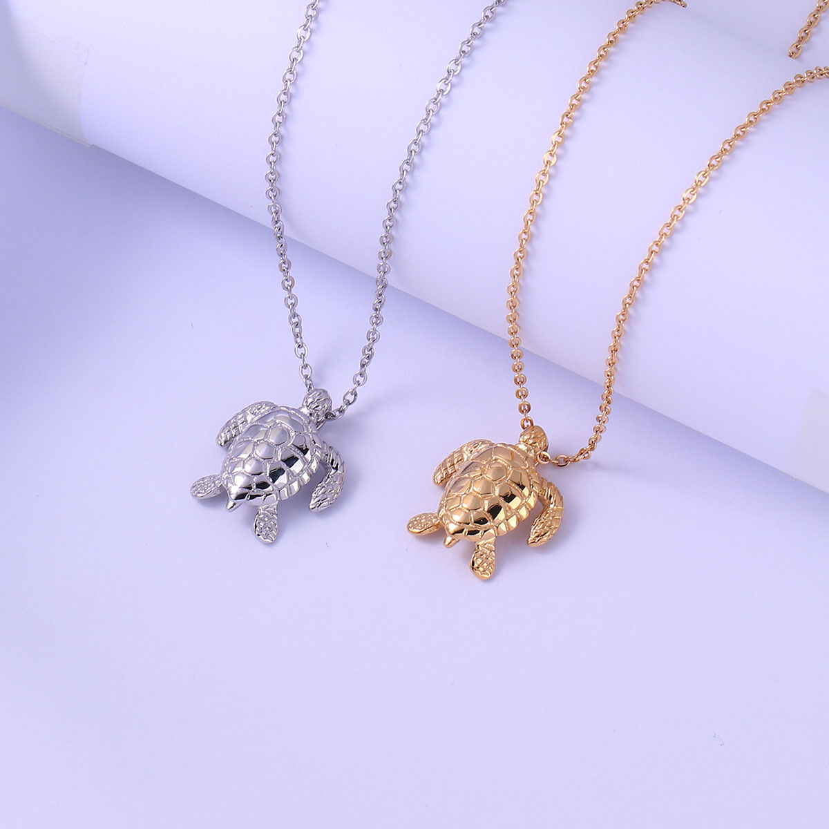 Sterling Silver Jewelry Turtle Necklace Personalized Pet Animal Jewelry Engraving Pendant Rose Gold Jewelry Gold Jewelry