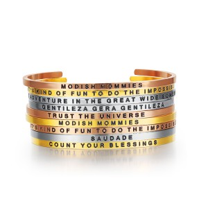 3mm Mantra Quotes Bangle stackable bracelet