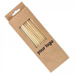 China logo custom individually wrapped wheat biodegradable straws
