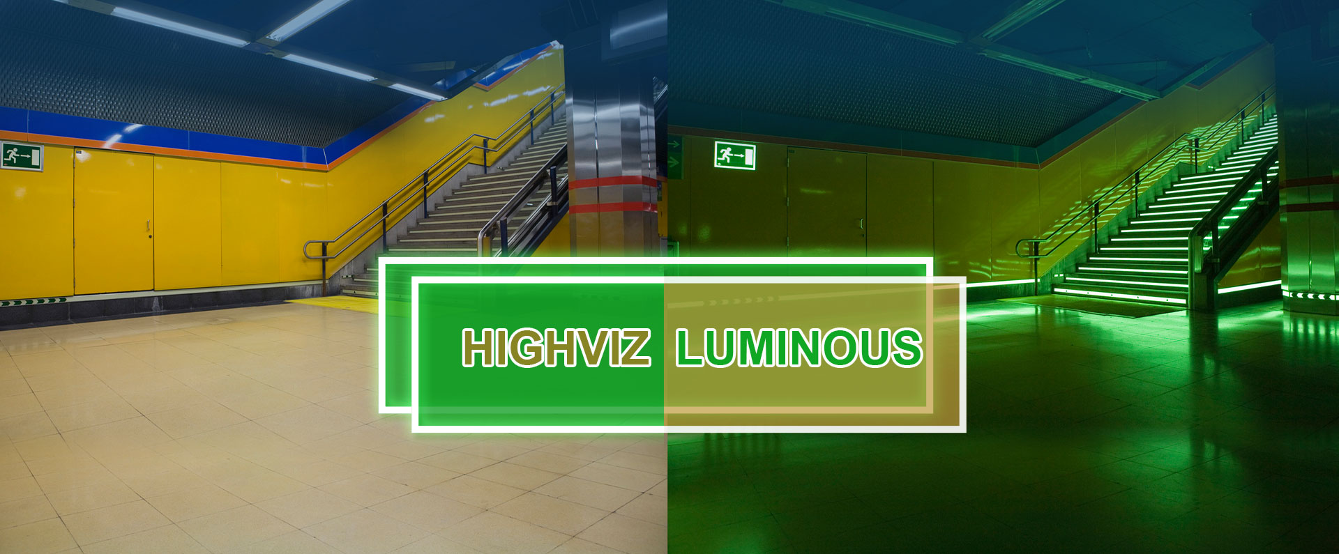 Photoluminescent Aluminum Anti-Slip Stair Nosing-3
