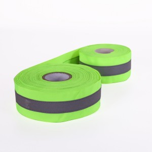 Webbing Sewing Gray Refelctive Tape for Highvis Clothing