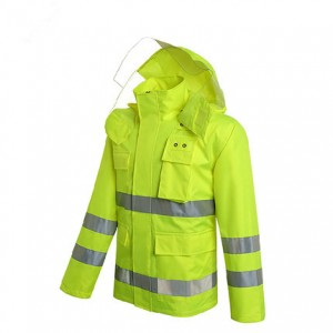 Safety Raincoat with ANSI Standard