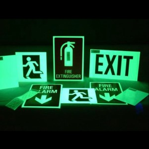 High reputation Photoluminescent Signs -