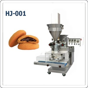 Full automatic filled cookies encrusting and forming machine