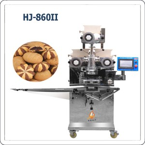 Automatic filled striped cookies making machine