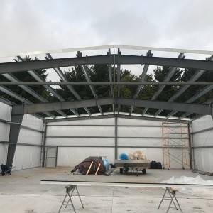 Factory Prefabricated Multi-span Steel Structure Hangar